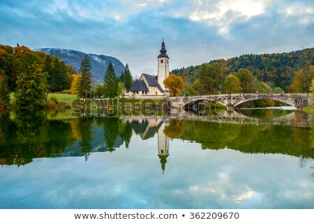 church of st john the baptist at bohinj lake stock photo © stevanovicigor