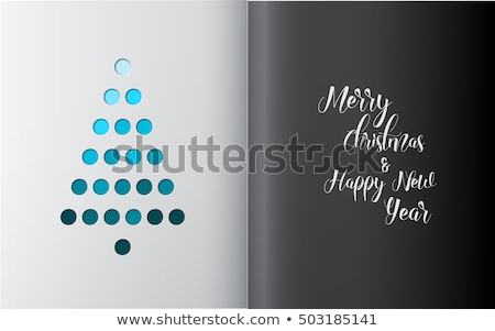 Minimalistic Christmas tree made from holes Stock photo © orson