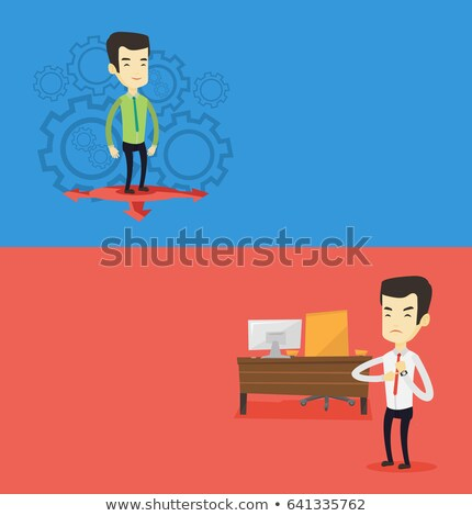 two people with different thoughts stock photo © bluering