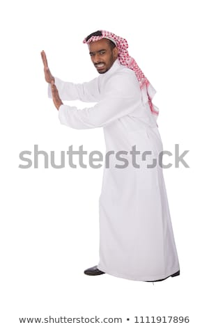 Unhappy young arab man isolated on white Stock photo © Elnur