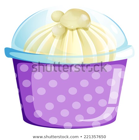 Icecream inside the disposable cup Stock photo © bluering