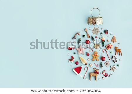 Christmas kolekcja renifer cień sylwetka uroczystości Zdjęcia stock © -Baks-