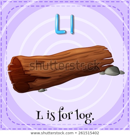 Flashcard letter L is for log Stock photo © bluering