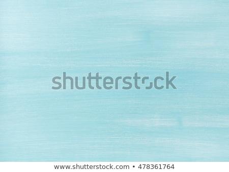 oude · verweerde · lichtblauw · geschilderd · hek - stockfoto © meinzahn