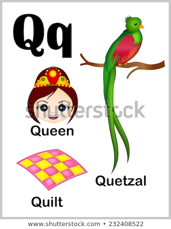 flashcard alphabet q is for quilt stock photo © bluering