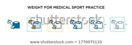Buttons with the different medical materials Stock photo © bluering