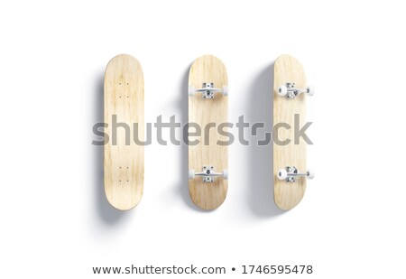 Longboard top and bottom view stock photo © kali