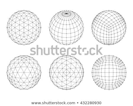 3D · wireframe · esfera · rede · linha - foto stock © Said