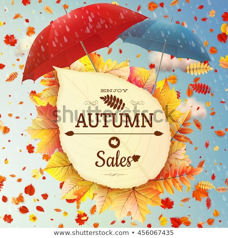Background on a theme of autumn. Sale. EPS 10 Stock photo © beholdereye