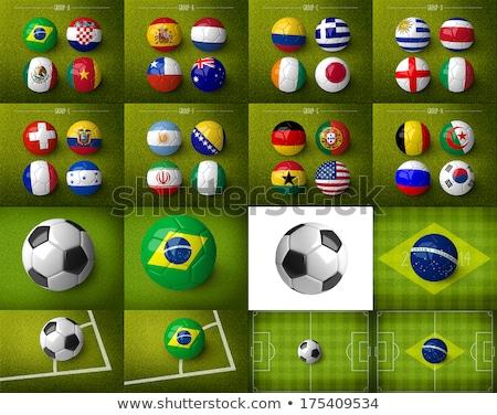 サッカーボール · フラグ · ピッチ · サッカー · 象牙海岸 · 世界 - ストックフォト © oakozhan