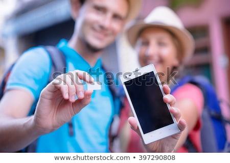 Smartphone with blank screen and SIM card Stock photo © stevanovicigor