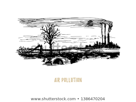 Environnement terre air pollution illustration monde Photo stock © bluering