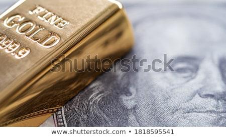 dourado · meta · reflexão · 3D · caixas · preto - foto stock © marinini