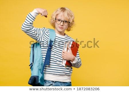 kinderen · tekening · les · cute · schooljongen · naar - stockfoto © diego_cervo
