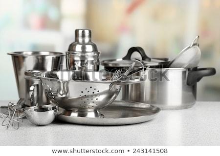 Cozinha aço inoxidável faca inoxidável pormenor frutas Foto stock © mady70
