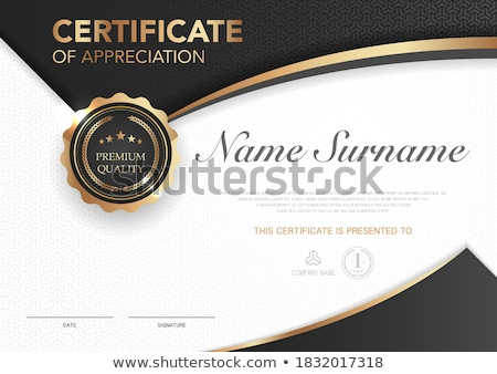 certificate of appreciation template design in modern clean styl Stock photo © SArts