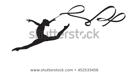 Fit athletic young dancer leaping in the air Stock photo © dash