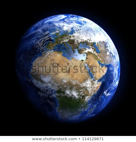 Zdjęcia stock: Ziemi · przestrzeni · Europie · Afryki · inny