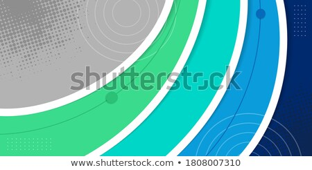 Blue vector Template Abstract background with curves lines and shadow. For flyer, brochure, booklet, Stock photo © fresh_5265954