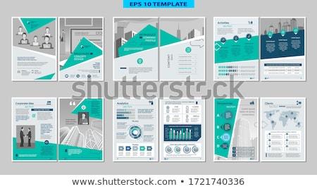 vektor · infografika · jelentés · sablon · hat · lépcső - stock fotó © orson
