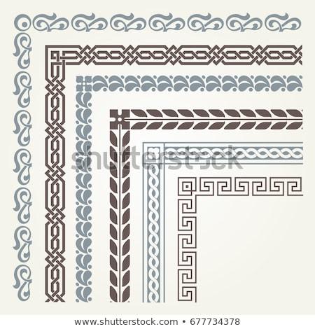 vector set of decorative corner borders and frames stock photo © blue-pen
