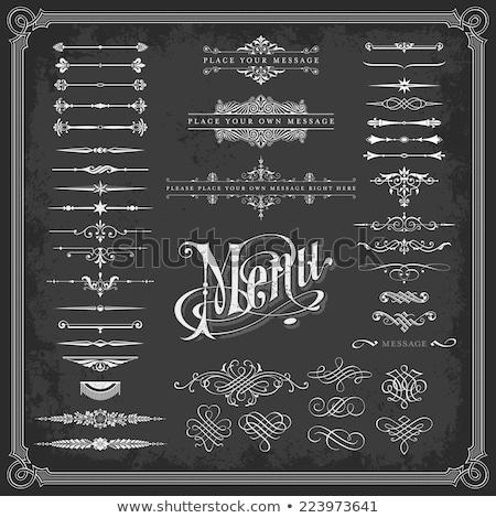 vektör · toplama · dekoratif · kareler · bağbozumu · stil - stok fotoğraf © blue-pen