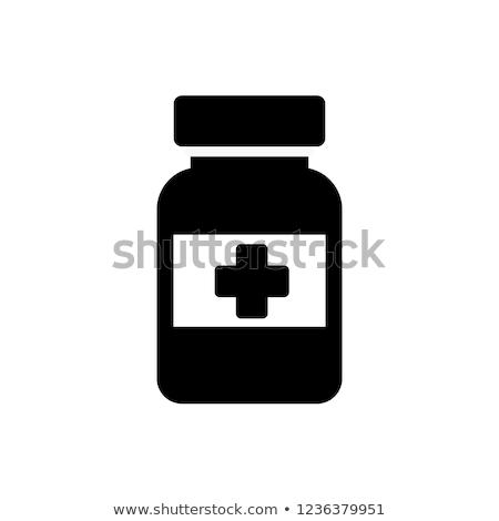 薬瓶 アイコン スタイル 黄色 クロス 薬 ストックフォト © ylivdesign