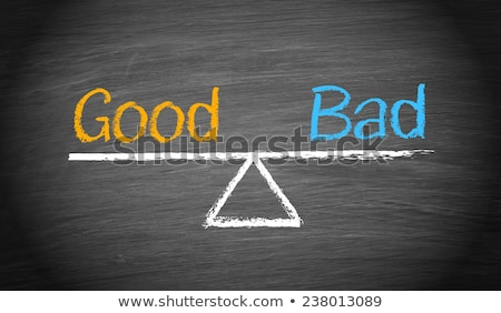 Good or bad business decision concept illustration stock photo © cienpies