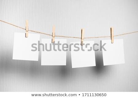 Colgante Polaroid galería cuatro cadena Foto stock © albund