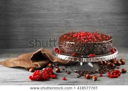 клюква шоколадом торт таблице Сток-фото © user_11224430