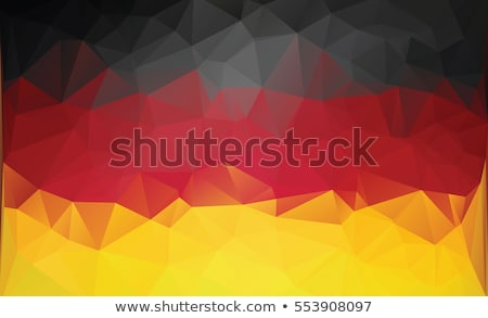 Polygonal german flag. Stock photo © user_11397493