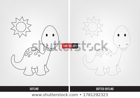 Tracing word for dinosaurs Stock photo © bluering