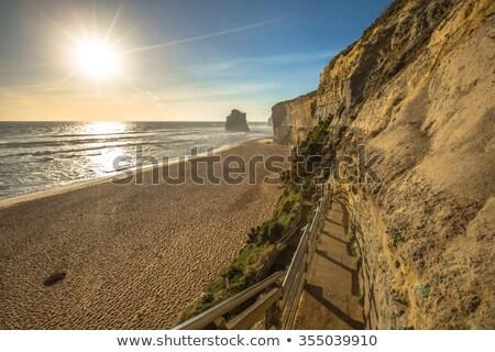 пляж · шаги · побережье · двенадцать · океана - Сток-фото © dirkr
