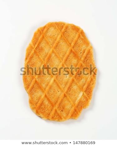 Tereyağı gözleme kurabiye beyaz gıda tatlı Stok fotoğraf © Digifoodstock