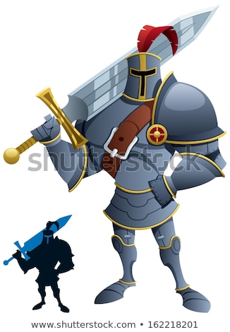 Foto stock: Knight Cartoon Mascot Character