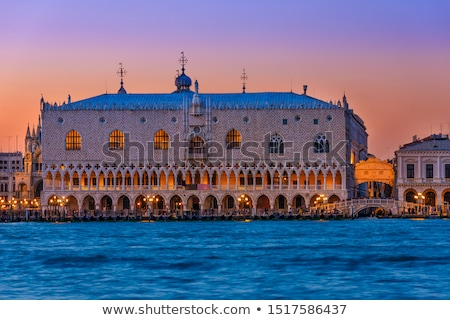 Doge's Palace in Venice at sunrise Stock photo © benkrut