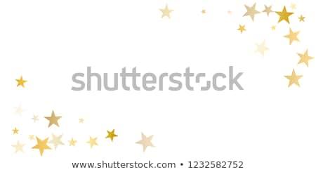 Golden Star Border Stock photo © cammep