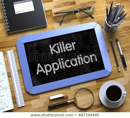 Pequeño pizarra asesino aplicación 3D superior Foto stock © tashatuvango
