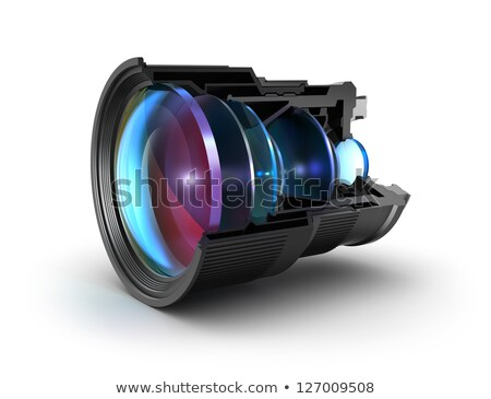 Closeup Photo Lens with 3d Movie. Stock photo © tashatuvango