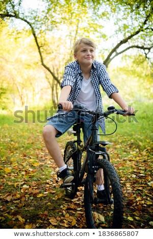 Teenagers on bike Stock photo © IS2
