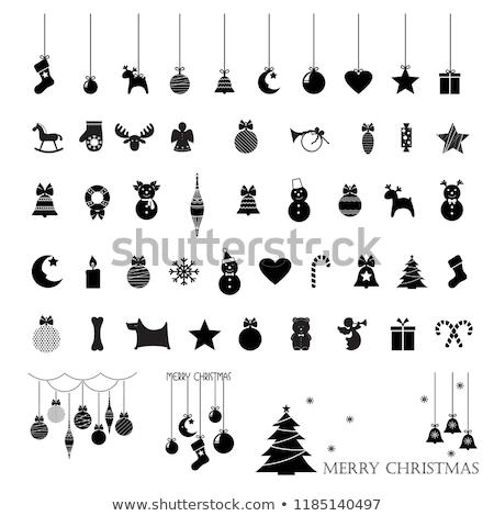 ストックフォト: クリスマス · 装飾 · おもちゃ · 馬 · 伝統的な · 赤