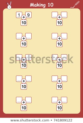 number one to ten with insects in table stock photo © bluering