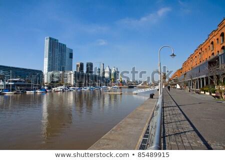 строительство крана Буэнос-Айрес Аргентина небе город Сток-фото © daboost