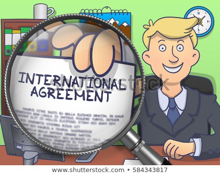 International Trade through Lens. Doodle Concept. Stock photo © tashatuvango