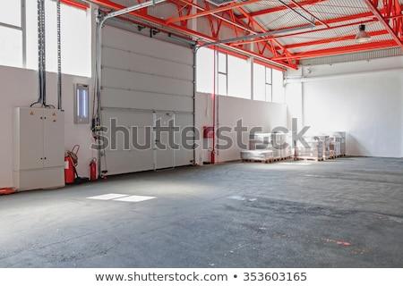 Nagy ipar garázs ajtó bent cég Stock fotó © dotshock