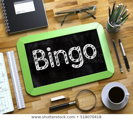 Bingo pequeno quadro-negro 3D topo Foto stock © tashatuvango