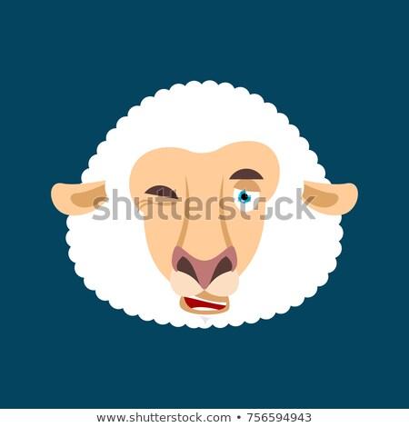 羊 顔 アバター 家畜 幸せ ストックフォト © popaukropa