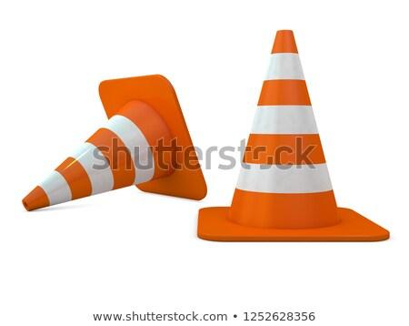 Stockfoto: Oranje · weg · 3D · bouw