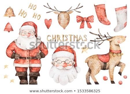 Acuarela ilustración Navidad calcetín pintura salpicaduras Foto stock © Sonya_illustrations