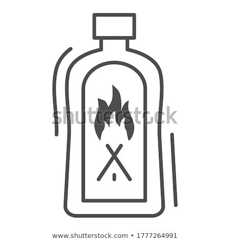 プラスチック 使い捨て ライター 孤立した 白 火災 ストックフォト © konturvid